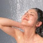シャワー顔乾燥