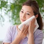 洗顔方法タオル拭き取る